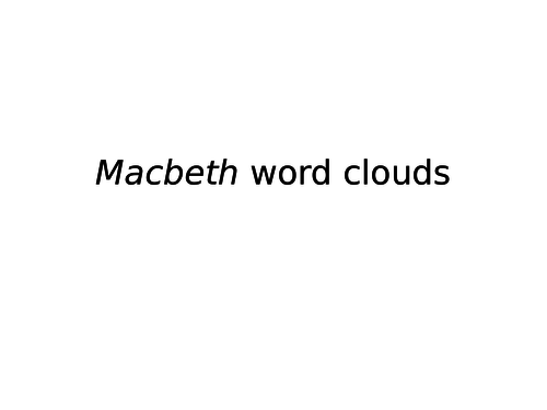 Macbeth Character Word Clouds