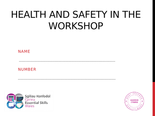 Health and safety in the workplace booklet. complete. Agored.