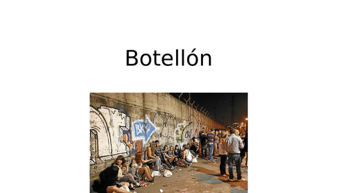 KS5 Spanish: El Botellón