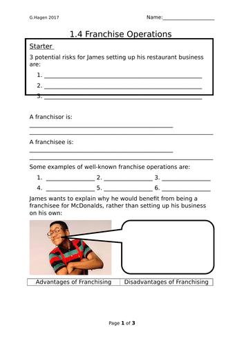 9-1 New Edexcel GCSE Business 1.4 Franchising Lesson