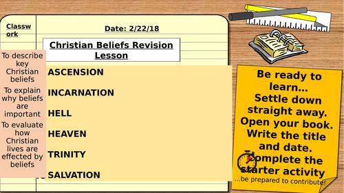 AQA 9-1 Religious Studies Christian Beliefs Revision Lesson