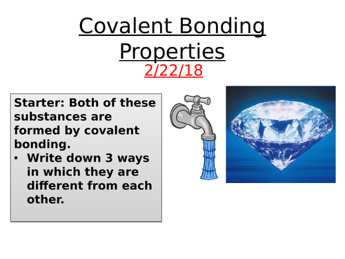 IGCSE Properties of Covalent bonding