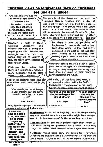 NEW AQA RELIGIOUS STUDIES GCSE 2016: THEME E - FORGIVENESS