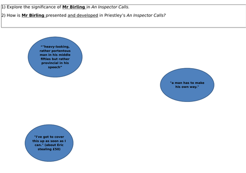 An Inspector Calls revision activities