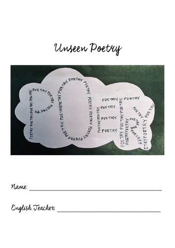 Unseen Poetry - Homework Booklet