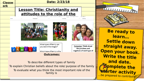 AQA 9-1 Relationships and families: The nature and purpose of families in Christianity
