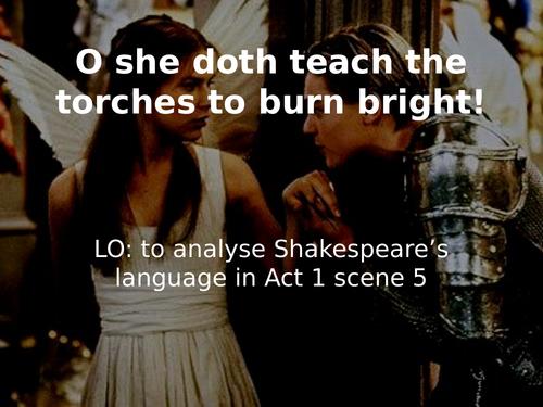 Romeo and Juliet Act 1 scene 5 language analysis