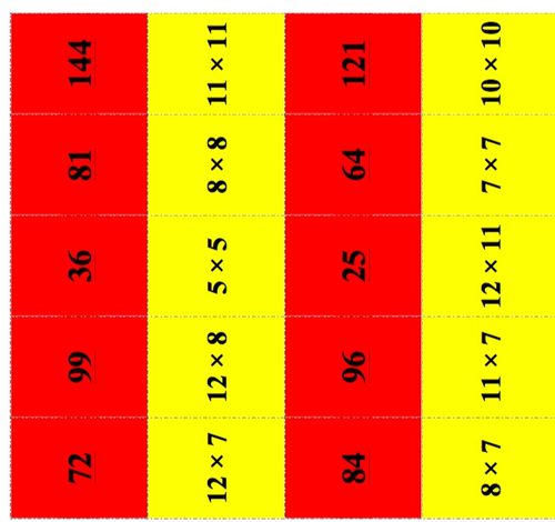 UPDATED! Maths All Levels - Times Tables Dominoes - Just print and play!