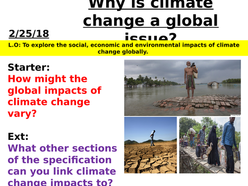 Changing Climate - Why is climate change a global issue?