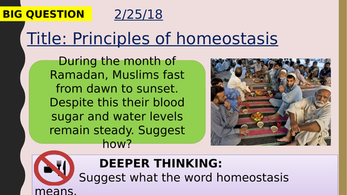 AQA new specification-Principles of homeostasis-B10.1