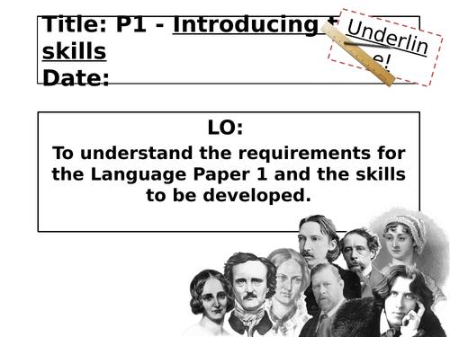 AQA Introduction to Language Paper 1