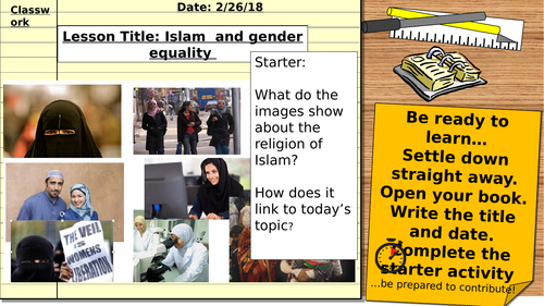 AQA Religious Studies 9-1: Relationships and families - Gender Equality (Islam)