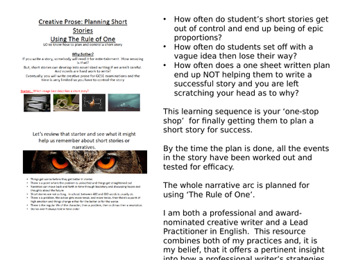 Creative Writing Planning Effective Short Stories & Narratives