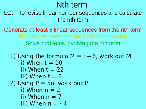 Middle school sequences resources
