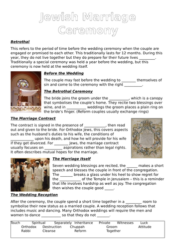 Jewish Marriage