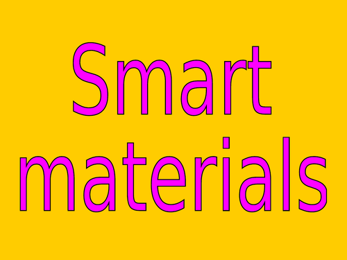 Resistant Materials Revision PowerPoints by topic