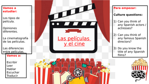 GCSE Spanish: Film & Cinema