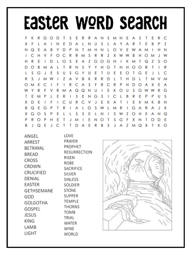 Easter Word Search Bundle - Sunday school Activity. Jesus, Bunnies and Chocolate!