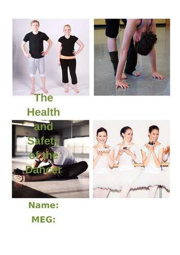 Health and Safety of the Dancer Independent Study Booklet (GCSE, AS Level, A-Level Dance)