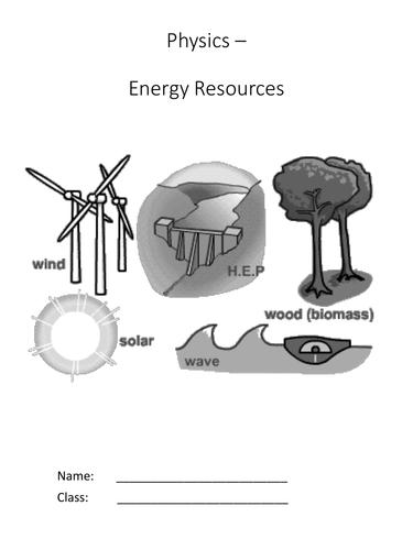 Energy Resources - Complete KS3 Unit