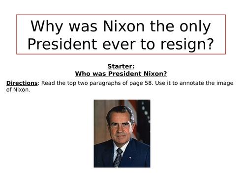 Why did Nixon resign?