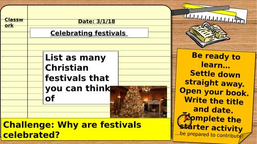 AQA 9-1 Religious Studies GCSE: Christian Practices - Festivals