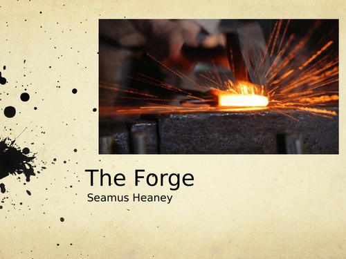 The Forge by Seamus Heaney- Poetry Analysis (CCEA A Level)