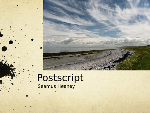Postscript by Seamus Heaney- Poetry Analysis (CCEA A Level)