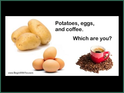 Inspirational assembly - KS3 KS4 - Resilience - Egg, potato and the coffee bean