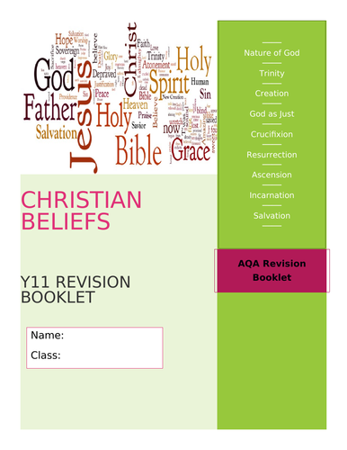 GCSE RE AQA Christian Beliefs and Teachings Revision Booklet