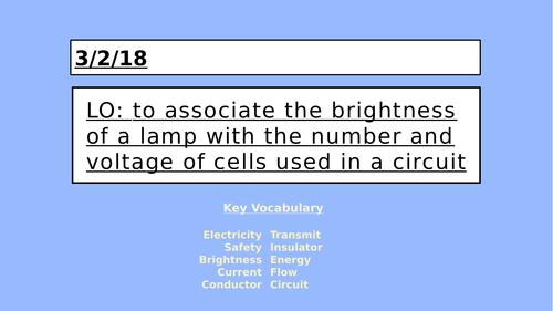 KS2 Electricity - Brightness