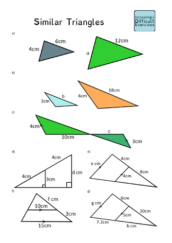 Increasingly Difficult Questions - Similar Triangles