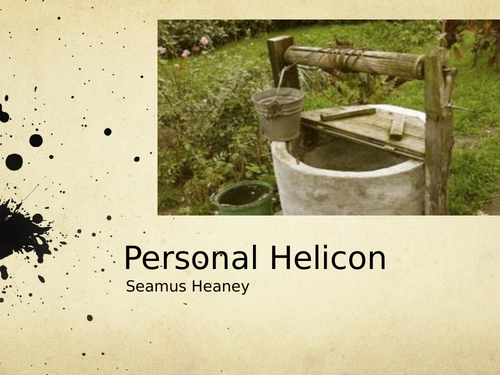 Personal Helicon by Seamus Heaney- Poetry Analysis (CCEA A Level)