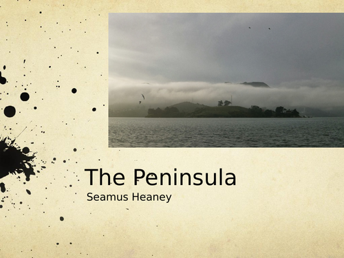 The Peninsula by Seamus Heaney- Poetry Analysis (CCEA A Level)