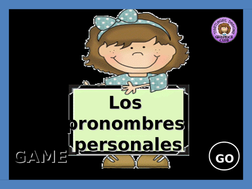 "Personal pronouns / The verb ""ser"""