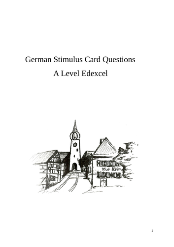 German A Level Oral Exam Questions Edexcel 2016 Spec By Regeniter