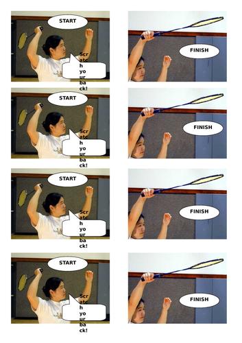 Low / Short Serve  and Smash Shot Badminton