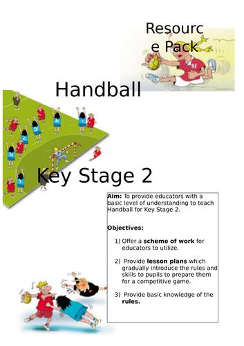 Handball Resource Pack KS2
