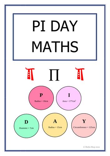 Pi Day Maths Circle Area And Circumference Fun Secret Code