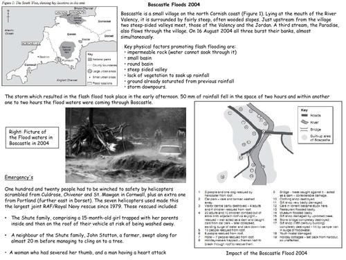 AS Geography - UK Flooding Case Study - Boscastle