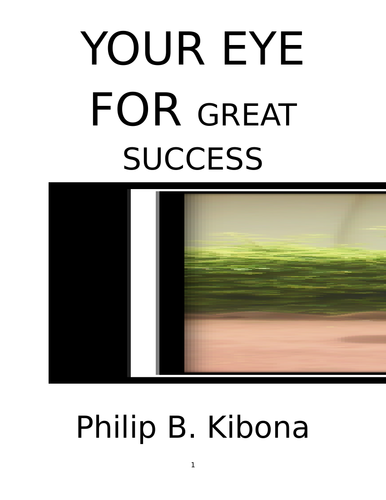 YOUR EYE FOR GREAT SUCCESS