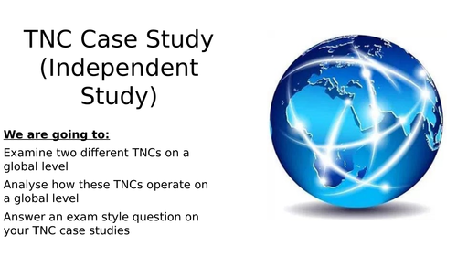 Transnational Companies (TNCs) Lesson and Individual Research Task