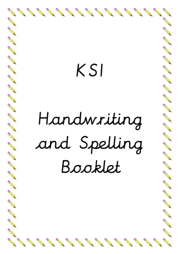KS1 Handwriting and Spelling Booklet