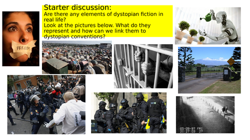 Dystopian Fiction - Exploring titles and Openings