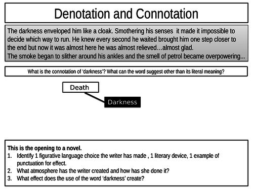 Connotation - close word analysis