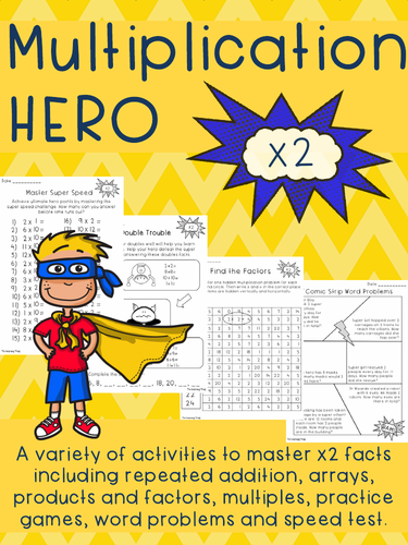 Multiplication HERO x 2 Activity Pack