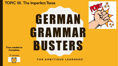 German Grammar Busters - The Imperfect Tense