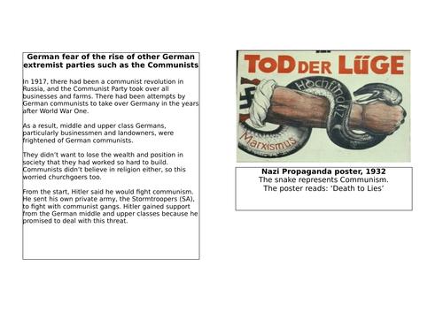 AQA 8145 Germany: Great Depression/ Fear of Communism/ Weimar