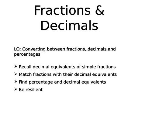 Fraction & Decimals Word Problems