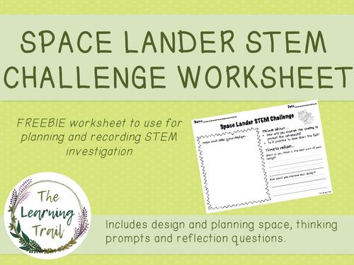 Space Lander STEM Investigation Worksheet